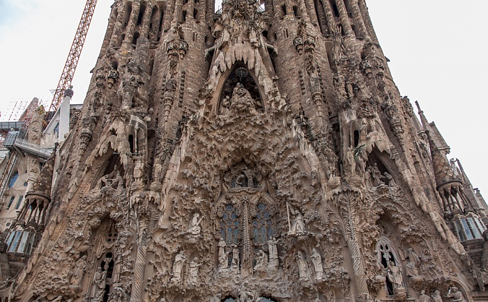 Sagrada Família: Geburtsfassade Barcelona 2015