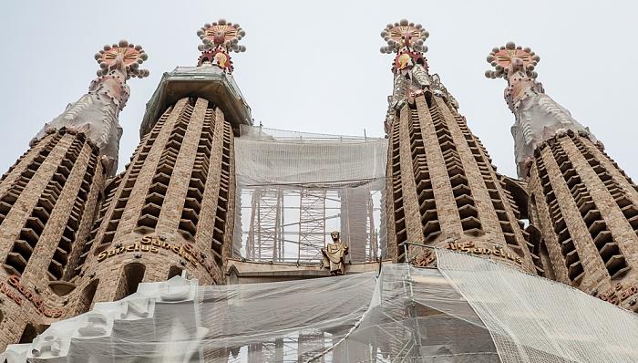 Sagrada Família: Passionsfassade Barcelona