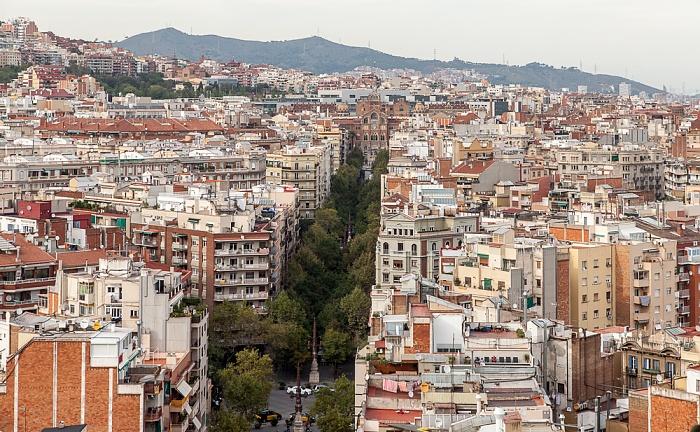 Blick von der Sagrada Família: Avenida de Gaudí Barcelona