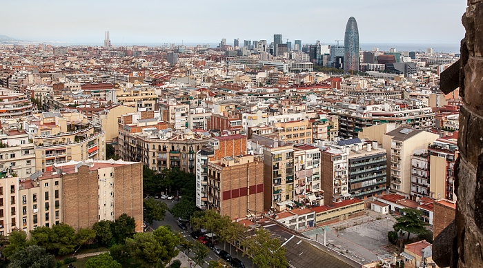 Blick von der Sagrada Família Barcelona