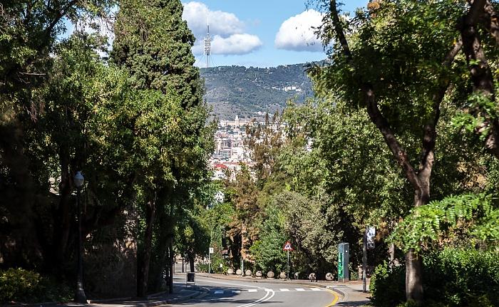 Parc de Montjuïc: Passeig de Santa Madrona Barcelona