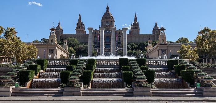 Fira de Barcelona, Quatre Columnes, Palau Nacional (Museu Nacional d'Art de Catalunya) Barcelona 2015