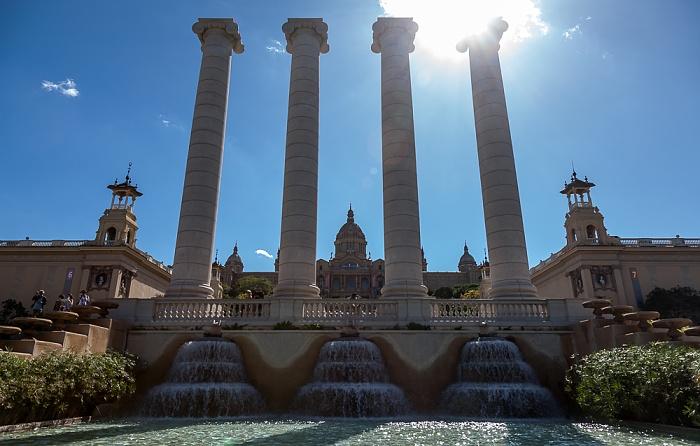 Fira de Barcelona, Quatre Columnes, Palau Nacional (Museu Nacional d'Art de Catalunya) Barcelona