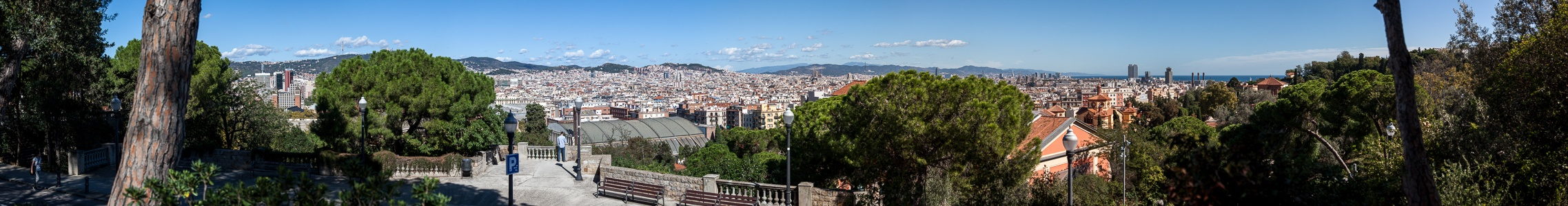 Blick vom Parc de Montjuïc Barcelona