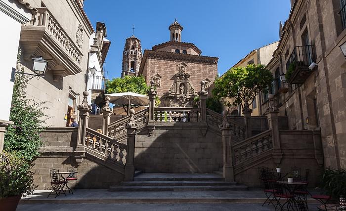 Poble Espanyol (v.u.): Gradas de Santiago, Iglesia de las Carmelitas (Teruel) und die Iglesia de Nuestra Señora de la Asunción (Utebo) Barcelona