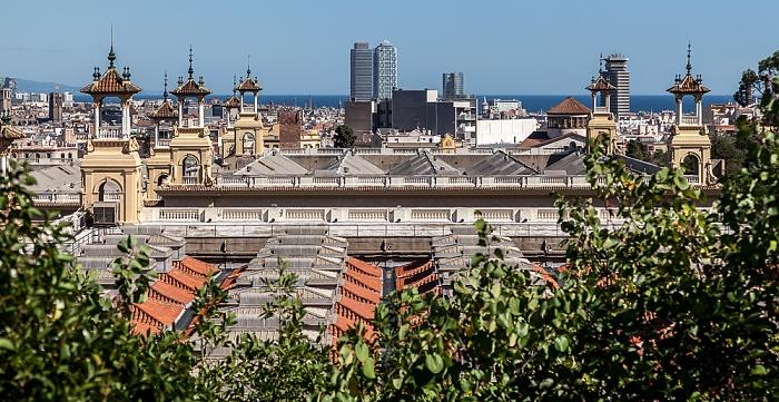 Blick vom Poble Espanyol Barcelona