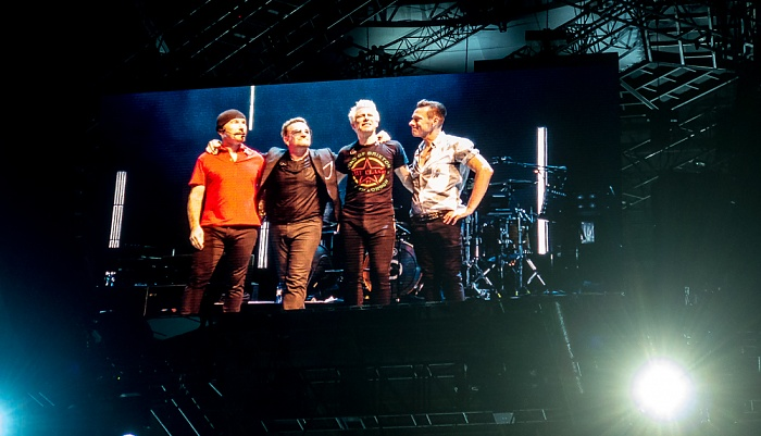 Palau Sant Jordi: U2 Barcelona The Edge, Bono, Adam Clayton, Larry Mullen jr