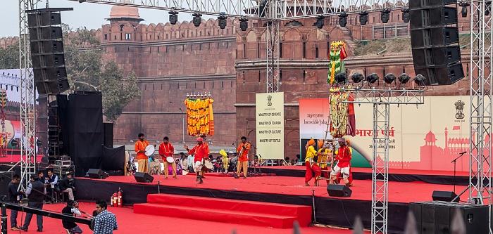 Old Delhi: Red Fort - Aufführung zum Republic Day