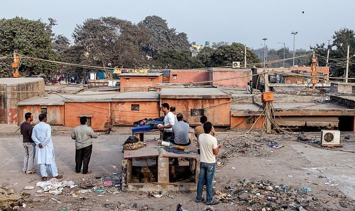 Old Delhi: Dächer des Meena Bazaar - Drachenflieger