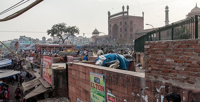 Old Delhi: Meena Bazaar, Jama Masjid