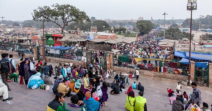 Old Delhi: Blick von der Jama Masjid - Meena Bazaar