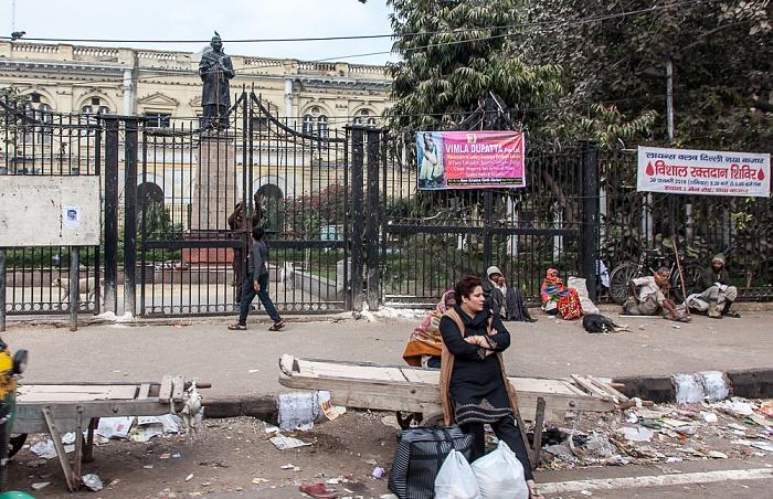 Old Delhi: Chandni Chowk Road - Ghantaghar: Town Hall und Swami-Shraddhanand-Statue