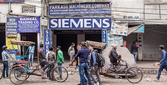 Old Delhi: Garstin Bastion Road (Swami Shradhanand Marg) - Siemens-Werbung