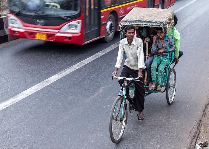 Delhi DB Gupta Road: Fahrradrikscha