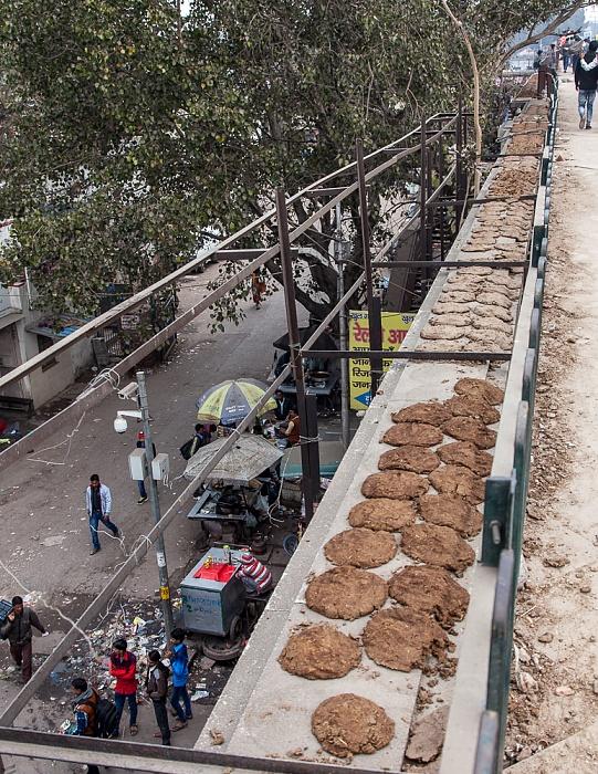 Delhi DB Gupta Road: Getrocknete Kuhfladen