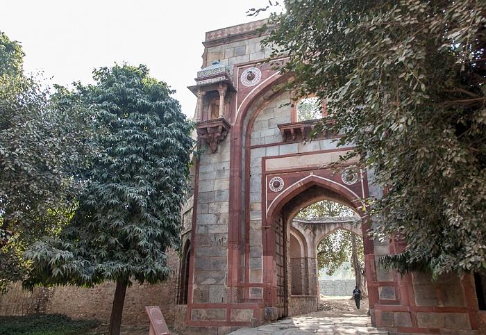 New Delhi: Isa-Khan-Mausoleumskomplex - Arab Ki Sarai Gateway