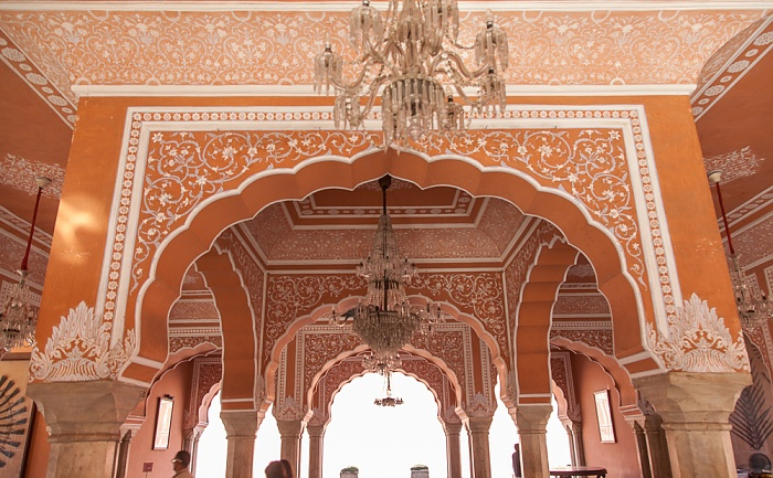 Jaipur City Palace: Sarvatobhadra Chowk - Diwan-i-Khas (private Audienzhalle)
