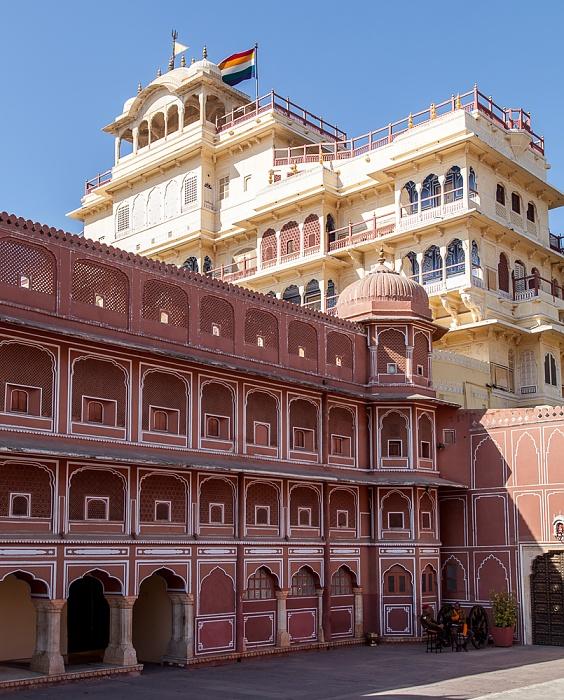 Jaipur City Palace: Sarvatobhadra Chowk, Chandra Mahal