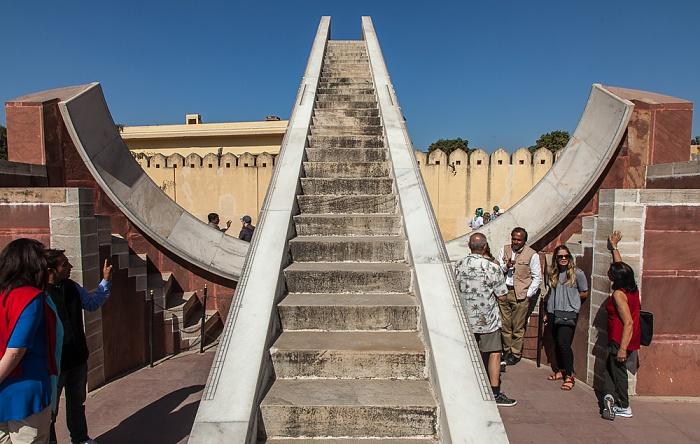 Jaipur Jantar Mantar: Laghu Samrat Yantra (Kleine Sonnenuhr)