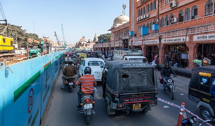 Jaipur Pink City: Tripolia Bazar Metro Station Badi Chaupar