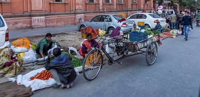 Jaipur Pink City: Amer Road - Straßenstände