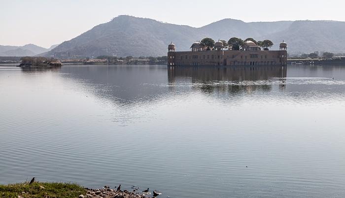 Jaipur Man Sagar Lake mit Jal Mahal (Wasserpalast)