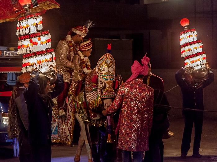 Jaipur Mahavir Marg: Hochzeitsumzug