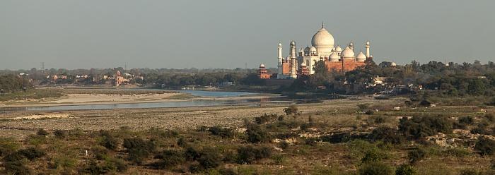 Blick vom Agra Fort (Rotes Fort): Taj Mahal