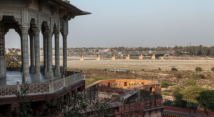 Agra Fort (Rotes Fort), Yamuna, Old Yamuna Bridge