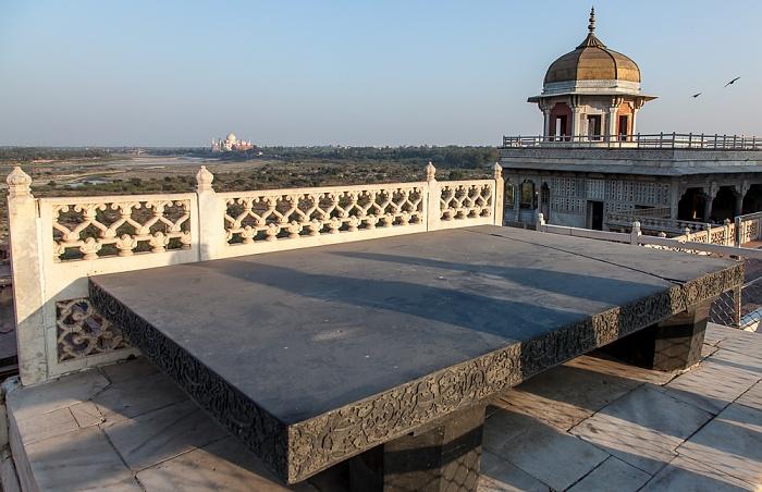 Agra Fort (Rotes Fort) Taj Mahal