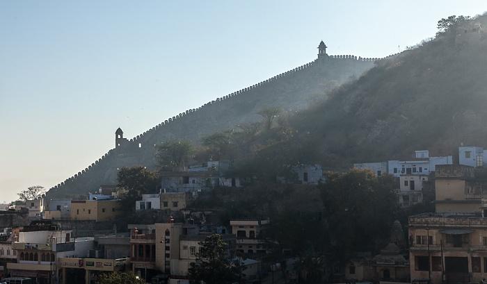 Jaipur Blick vom Amber Fort