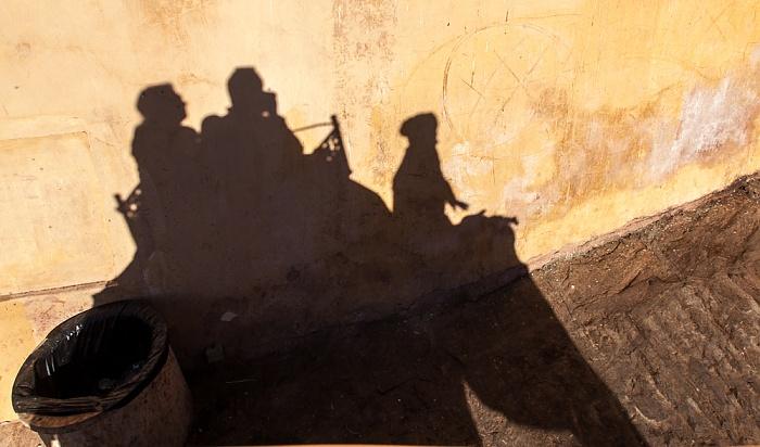 Jaipur Amber Fort mit Schatten von Elefant