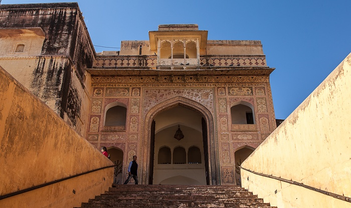 Jaipur Amber Fort: Treppe vom ersten zum zweiten Innenhof