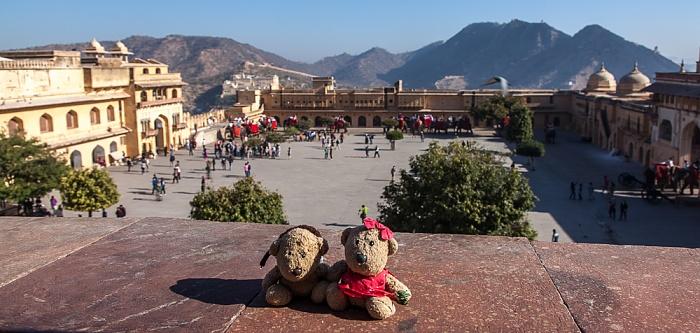 Jaipur Amber Fort: Teddy und Teddine