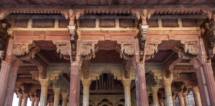 Jaipur Amber Fort: Zweiter Innenhof - Diwan-i-Am (Öffentliche Audienzhalle)