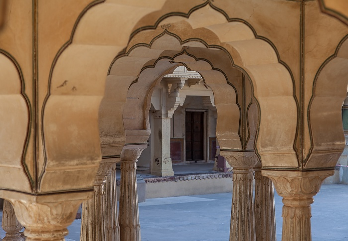 Jaipur Amber Fort: Zweiter Innenhof
