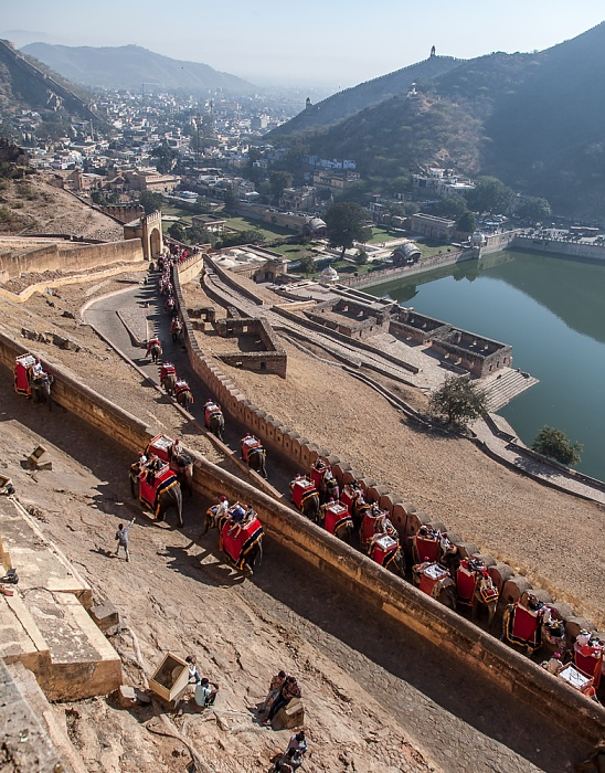 Jaipur Amber Fort Maota Lake