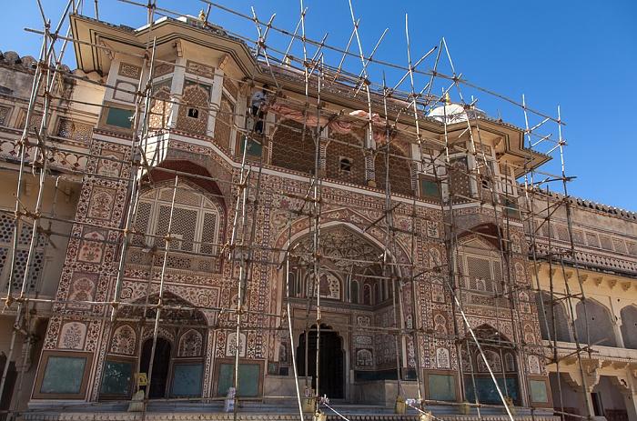 Jaipur Amber Fort: Zweiter Innenhof - Ganesh Gate