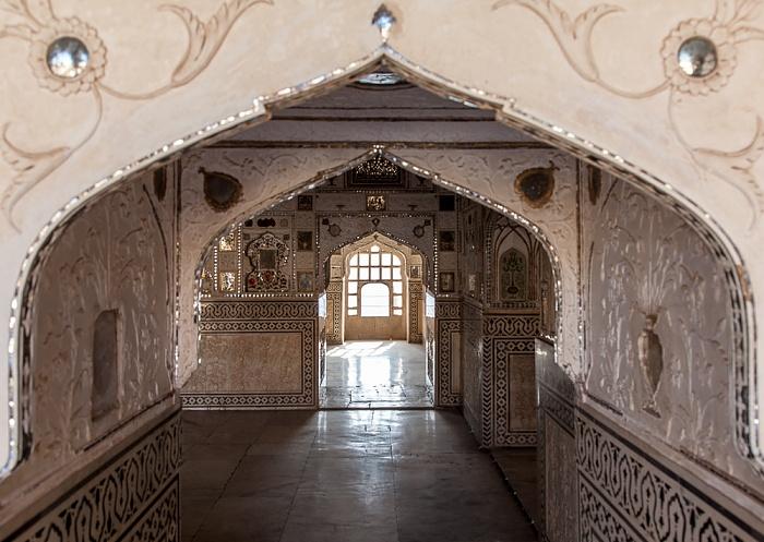 Jaipur Amber Fort: Dritter Innenhof - Sheesh Mahal (Jai Mandir, Spiegelpalast)