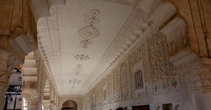 Jaipur Amber Fort: Dritter Innenhof - Sukh Niwas (Sukh Mahal)
