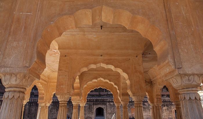 Jaipur Amber Fort: Vierter Innenhof - Baradhari Pavilion