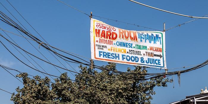 Pushkar Werbung für das Hard Rock Restaurant