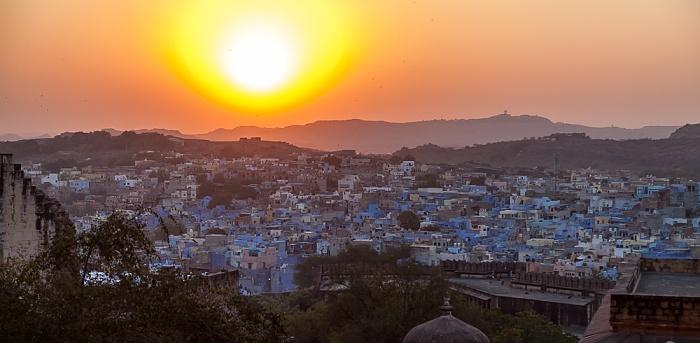 Jodhpur Blick vom Mehrangarh Fort: Die blaue Stadt
