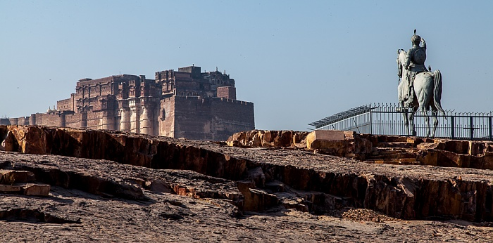 Jodhpur Reiterstandbild von Rao Jodha Mehrangarh Fort