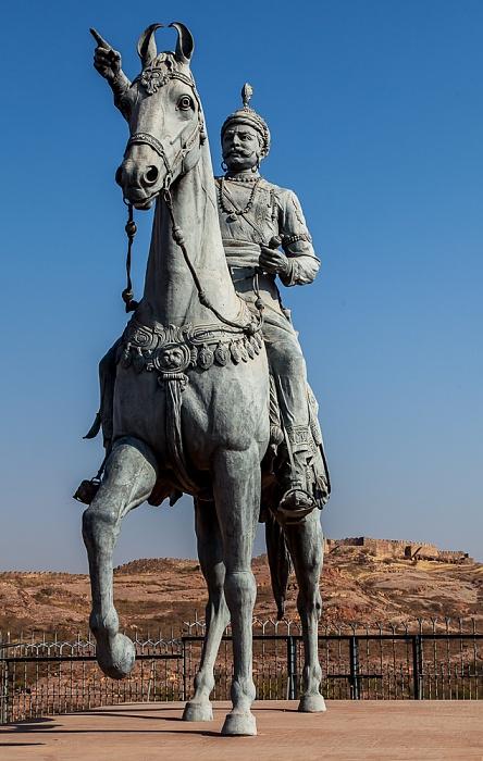 Jodhpur Reiterstandbild von Rao Jodha