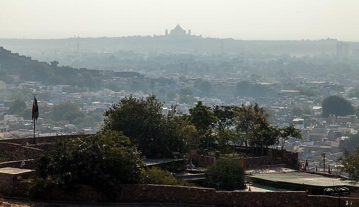 Jodhpur Blick von Jaswant Thada  Umaid Bhawan Palace