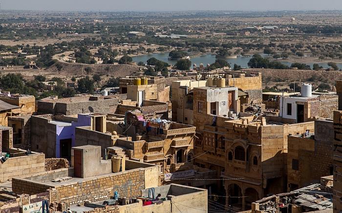 Blick vom Raj Mahal (Maharaja-Palast): Jaisalmer Fort Gadisar Talab