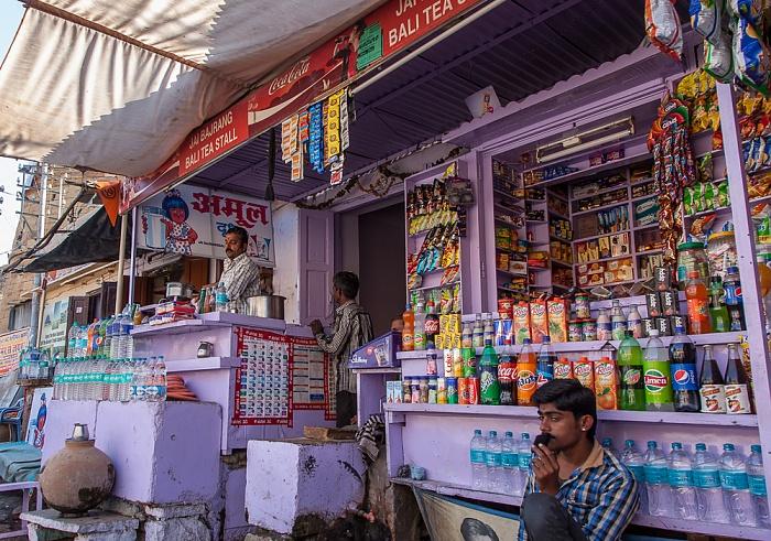 Altstadt / Jaisalmer Fort: Manak Chowk - Verkaufsstand