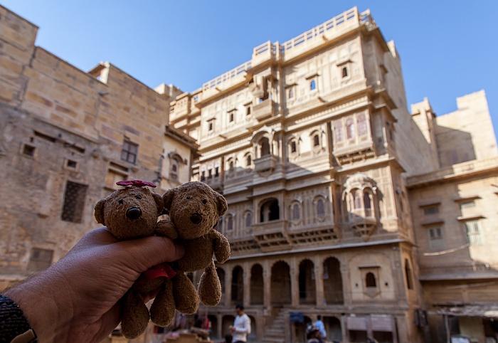 Jaisalmer Altstadt: Patwon ki Haveli - Teddine und Teddy