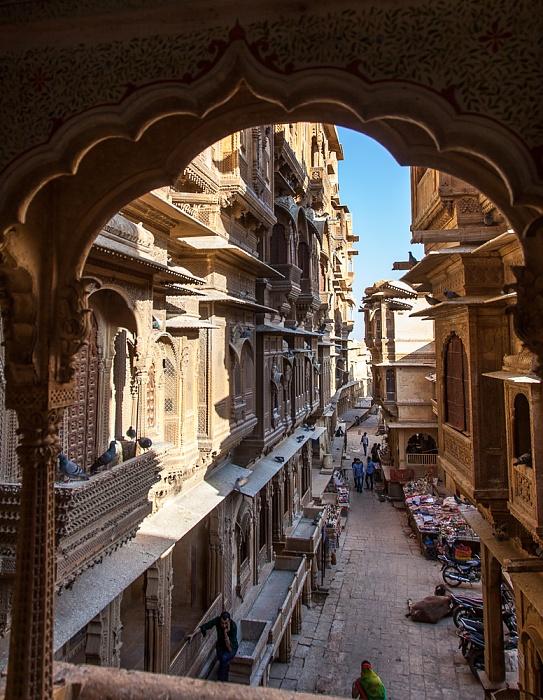 Jaisalmer Blick aus dem Patwon ki Haveli